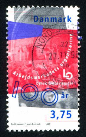 confederation: DENMARK - CIRCA 1998: stamp printed by Denmark, shows Danish Confederation of Trade Unions, circa 1998