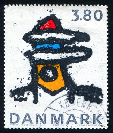 robert: DENMARK - CIRCA 1985: stamp printed by Denmark, shows Abstract Iron Sculpture by Robert Jacobsen, circa 1985 Editorial
