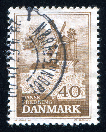 bogo: DENMARK - CIRCA 1965: stamp printed by Denmark, shows Bogo Windmill, circa 1965