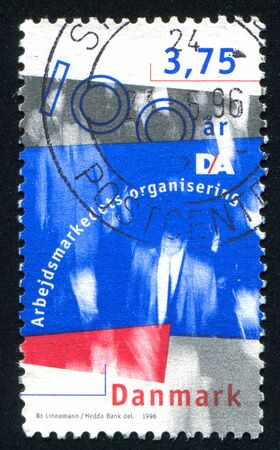 confederation: DENMARK - CIRCA 1996: stamp printed by Denmark, shows Danish Employers Confederation, circa 1996