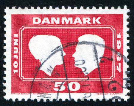prince of denmark: DENMARK - CIRCA 1967: stamp printed by Denmark, shows Princess Margrethe and Prince Henri, circa 1967 Editorial