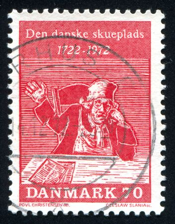 to tinker: DENMARK - CIRCA 1972: stamp printed by Denmark, shows Tinker Turned Politician, circa 1972