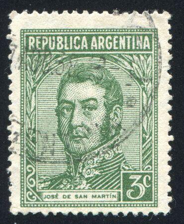jose: ARGENTINA - CIRCA 1935: stamp printed by Argentina, shows General Jose de San Martin, circa 1935
