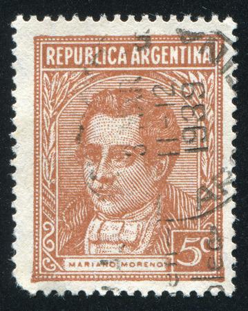 mariano: ARGENTINA - CIRCA 1935: stamp printed by Argentina, shows Mariano Moreno, circa 1935