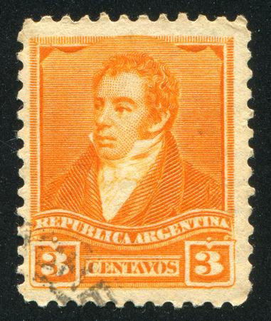 bernardino: ARGENTINA - CIRCA 1892: stamp printed by Argentina, shows Bernardino Rivadavia, circa 1892 Editorial