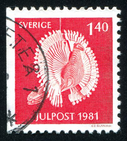 woodcraft: SWEDEN - CIRCA 1981: stamp printed by Sweden, shows Wooden bird, circa 1981
