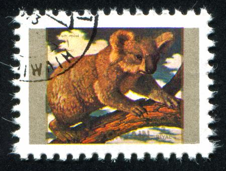 umm: UMM AL-QUWAIN - CIRCA 1972: stamp printed by Umm al-Quwain, shows koala, circa 1972 Editorial