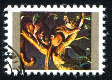 umm: UMM AL-QUWAIN - CIRCA 1972: stamp printed by Umm al-Quwain, shows sugar glider , circa 1972