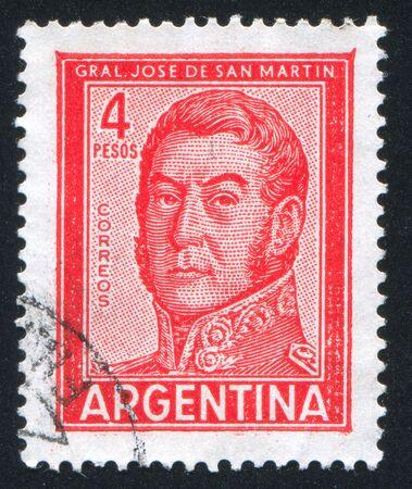 jose de san martin: ARGENTINA - CIRCA 1966: stamp printed by Argentina, shows General Jose de San Martin, circa 1966