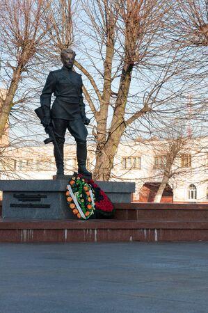 seconda guerra mondiale: Kaliningrad region. Russian soldier monument. The Second World War. Editoriali