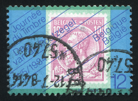 leopold: BELGIUM - CIRCA 1984: stamp printed by Belgium, shows King Leopold II circa 1984 Editorial