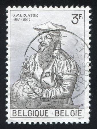 mercator: BELGIUM - CIRCA 1962: stamp printed by Belgium, shows Gerard Mercator, circa 1962