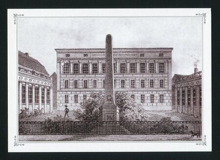 engravings: RUSSIA - CIRCA 2013: post card printed by Russia, shows Engravings of ancient old Konigsberg, circa 2013. Editorial