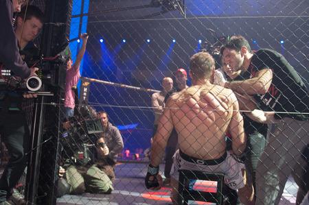 blockbuster: KALININGRAD - RUSSIA 28 November: Filming the movie blockbuster The Warrior, November 28, 2014 in Kaliningrad, Russia.