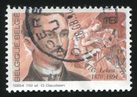 composer: RUSSIA KALININGRAD, 26 OCTOBER 2015: stamp printed by Belgium, shows Guillaume Lekeu, Composer, circa 1994 Editorial