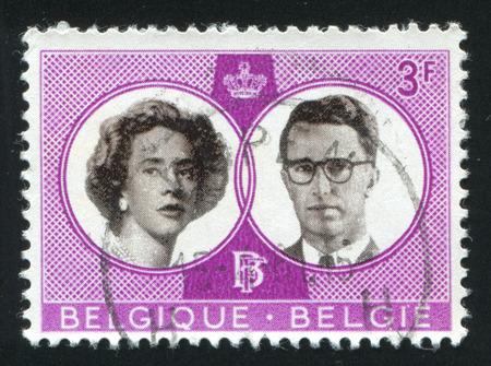 baudouin: BELGIUM - CIRCA 1960: stamp printed by Belgium, shows King Baudouin and Queen Fabiola, circa 1960