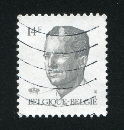baudouin: BELGIUM - CIRCA 1981: stamp printed by Belgium, shows King Baudouin, circa 1981