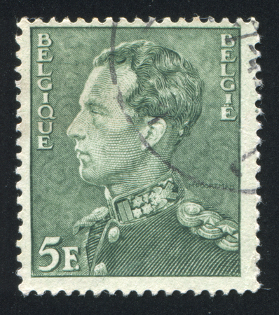 leopold: BELGIUM - CIRCA 1936: stamp printed by Belgium, shows Leopold III, circa 1936 Editorial