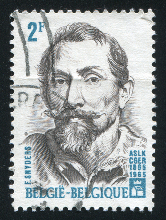 frans: RUSSIA KALININGRAD, 19 OCTOBER 2015: stamp printed by Belgium, shows Frans Snyders, circa 1965
