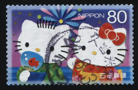 fictional character: RUSSIA KALININGRAD, 22 APRIL 2016: stamp printed by Japan shows Hello Kitty fictional character, circa 2012
