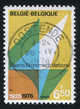 flemish: RUSSIA KALININGRAD, 20 OCTOBER 2015: stamp printed by Belgium, shows Flemish Economic Organization, circa 1976
