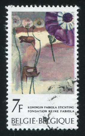 metamorphose: RUSSIA KALININGRAD, 20 OCTOBER 2015: stamp printed by Belgium, shows Metamorphose by Pol Mara, circa 1975 Editorial