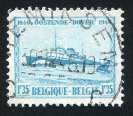 baudouin: RUSSIA KALININGRAD, 20 OCTOBER 2015: stamp printed by Belgium, shows Prince Baudouin ship, circa 1946 Editorial