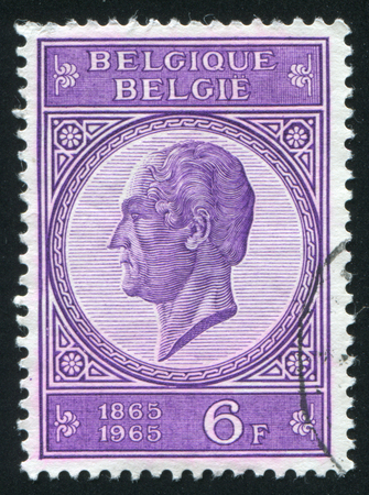 leopold: RUSSIA KALININGRAD, 20 OCTOBER 2015: stamp printed by Belgium, shows Leopold I, circa 1965