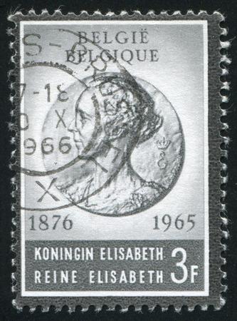 elisabeth: RUSSIA KALININGRAD, 20 OCTOBER 2015: stamp printed by Belgium, shows Reine Elisabeth, circa 1965