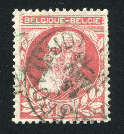 leopold: BELGIUM - CIRCA 1863: stamp printed by Belgium, shows King Leopold II, circa 1863 Editorial
