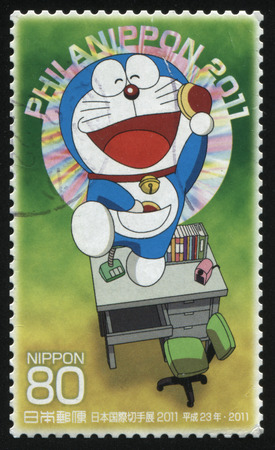 fictional character: RUSSIA KALININGRAD, 18 MARCH 2016: stamp printed by Japan shows  fictional character, circa 2011