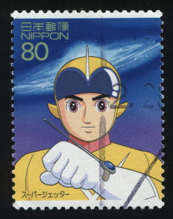 RUSSIA KALININGRAD, 22 APRIL 2016: stamp printed by Japan shows Japanese Anime, circa 2012