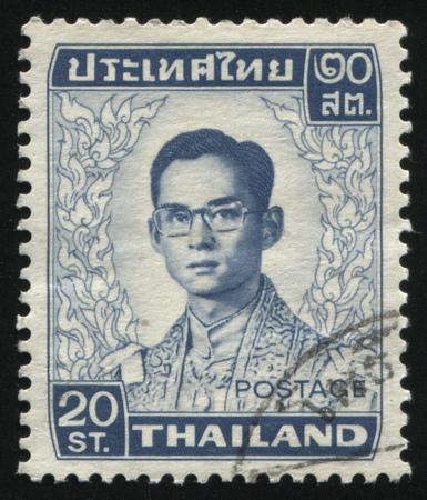 adulyadej: RUSSIA KALININGRAD, 3 JUNE 2016: stamp printed by Thailand shows King Bhumibol Adulyadej, circa 1977 Editorial