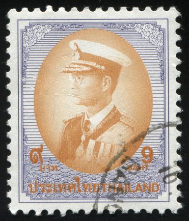 adulyadej: RUSSIA KALININGRAD, 3 JUNE 2016: stamp printed by Thailand shows King Bhumibol Adulyadej, circa 1978 Editorial