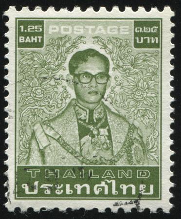 adulyadej: RUSSIA KALININGRAD, 3 JUNE 2016: stamp printed by Thailand shows King Bhumibol Adulyadej, circa 1980 Editorial