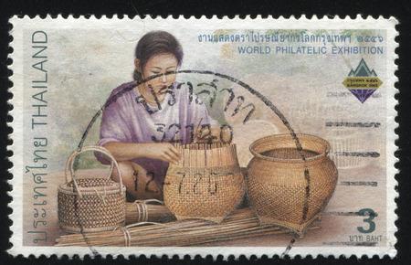 craftswoman: RUSSIA KALININGRAD, 31 MAY 2016: stamp printed by Thailand, shows Craftswoman, circa 2003 Editorial