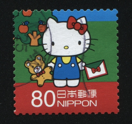 fictional character: RUSSIA KALININGRAD, 18 MARCH 2016: stamp printed by Japan shows Hello Kitty fictional character, circa 2012