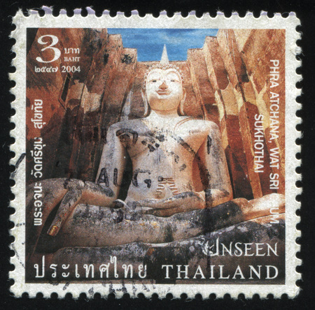 RUSSIA KALININGRAD, 3 JUNE 2016: stamp printed by Thailand, shows big Buddha statue, circa 2004 Editorial