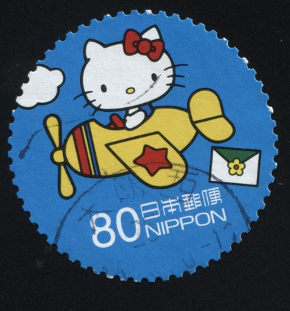 fictional character: RUSSIA KALININGRAD, 18 MARCH 2016: stamp printed by Japan shows Hello Kitty fictional character, circa 2007 Editorial