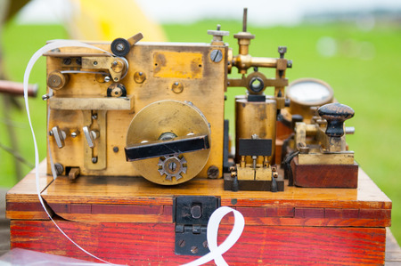 telegraphic communication: The old telegraph. The ancient technological devices for military and civilian purpose.