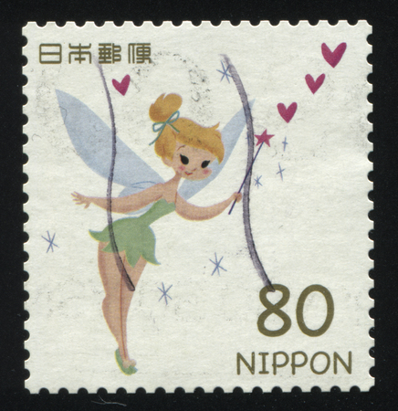 tinker bell: RUSSIA KALININGRAD, 22 APRIL 2016: stamp printed by Japan, shows Tinker Bell, circa 2011