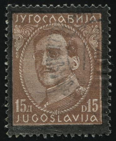 statesman: RUSSIA KALININGRAD,12 NOVEMBER 2016: stamp printed by Yugoslavia, shows King Alexander, circa 1933