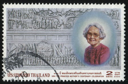 RUSSIA KALININGRAD, 2 JUNE 2016: stamp printed by Thailand, shows the Princess Mother, circa 2000 Editorial