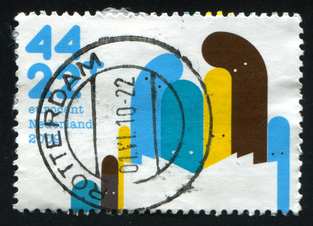 RUSSIA KALININGRAD, 21 JUNE 2017: stamp printed by Netherlands shows abstract emblem and symbol, circa 2009