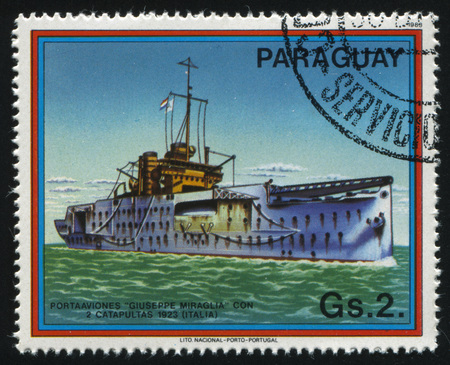 RUSSIA KALININGRAD, 22 APRIL 2017: stamp printed by Paraguay, shows Guiseppe Miraglia from Italy, circa 1983