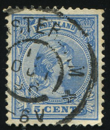 RUSSIA KALININGRAD, 27 JUNE 2017: stamp printed by Netherlands shows Queen Wilhelmina, circa 1891