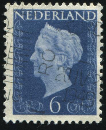 RUSSIA KALININGRAD, 27 JUNE 2017: stamp printed by Netherlands shows queen Wilhelmina, circa 1941