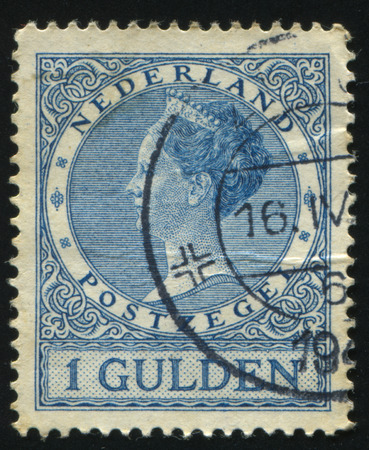 RUSSIA KALININGRAD, 27 JUNE 2017: stamp printed by Netherlands shows Queen Wilhelmina, circa 1902