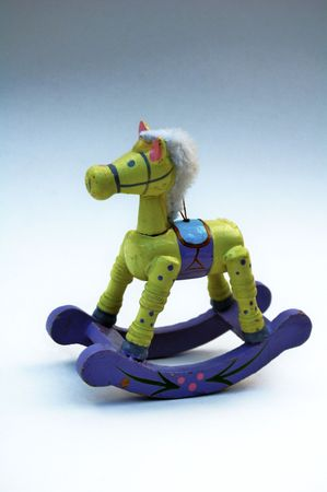 fillers: Wooden toy - rocking toy horse