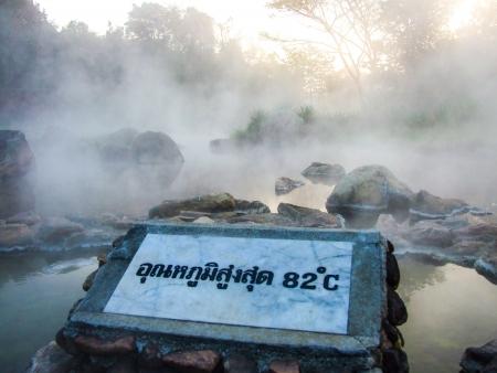 celcius: Hot spring have high temperature 82 celcius
